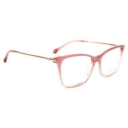 Óculos de Grau Ana Hickmann AH6387 C02/55 Rosa Transparente/Bronze