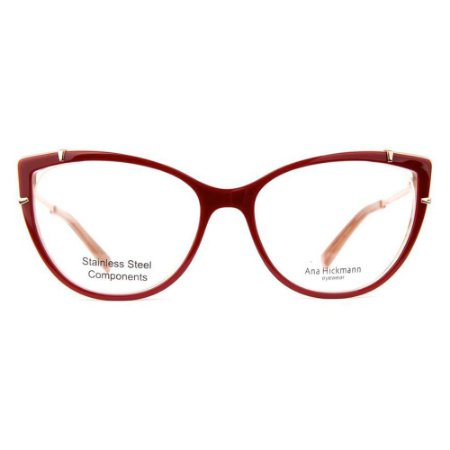 Óculos de Grau Ana Hickmann AH6382 H01/54 Vermelho/Bronze