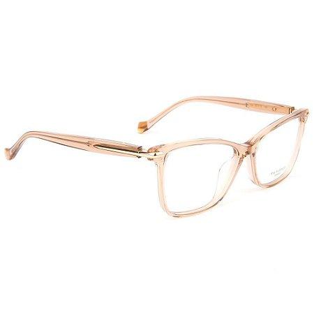 Óculos de Grau Ana Hickmann AH6364 T02/54 Rosa Transparente/Dourado