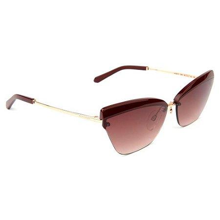 Óculos de Sol Ana Hickmann AH3210 04B/64 Marrom/Bronze