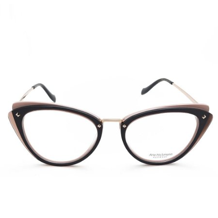 Óculos de Grau Ana Hickmann AH6326 H01/52 Preto e Rosê