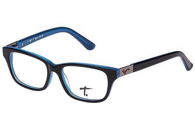 Óculos de Grau Tigor T Tigre VTT061 C4/47 Preto/Azul