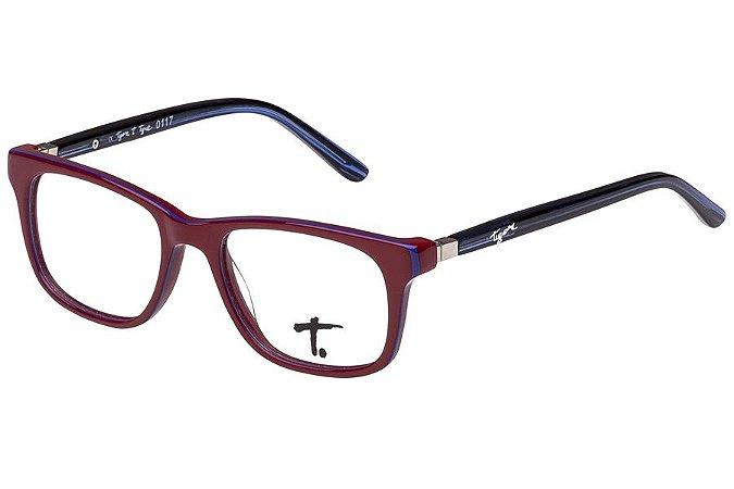 Óculos de Grau Tigor T Tigre VTT061 C3/47 Vermelho/Preto