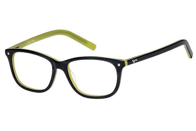 Óculos de Grau Tigor T Tigre VTT058 C4/47 Preto/Verde