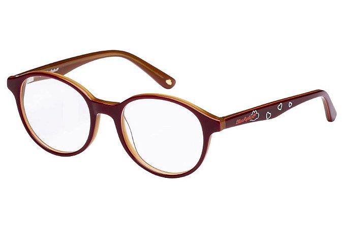 Óculos de Grau Lilica Ripilica VLR105 C02/46 Bordô/Caramelo