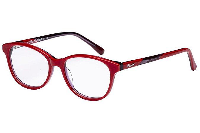 Óculos de Grau Lilica Ripilica VLR100 C1/46 Vermelho