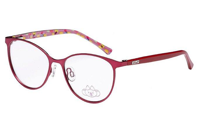 Óculos de Grau Lilica Ripilica VLR082 C4/48 Vermelho