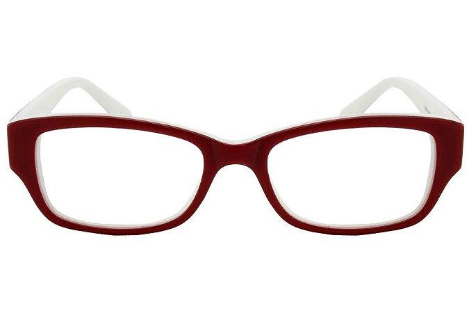 Óculos de Grau Lilica Ripilica VLR058 C2/47 Vermelho/Branco
