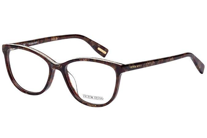 Óculos de Grau Victor Hugo VH1769 0713/53 Marrom Mesclado