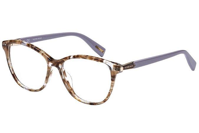 Óculos de Grau Victor Hugo VH1768 0ALC/52 Marrom Mesclado/Lílas