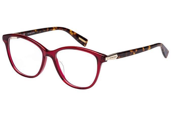 Óculos de Grau Victor Hugo VH1768 09WA/52 Vermelho Transparente/Tartaruga