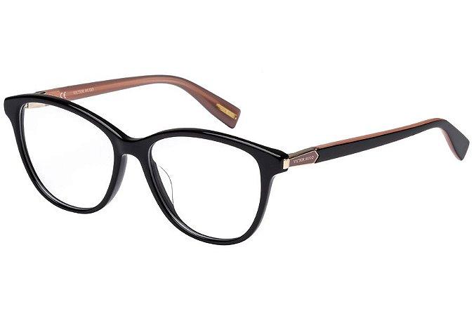 Óculos de Grau Victor Hugo VH1768 0700/52 Preto/Rose