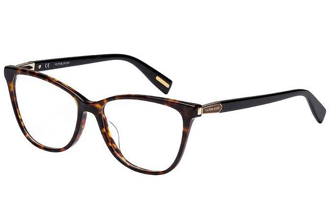 Óculos de Grau Victor Hugo VH1767 0L72/53 Tartaruga/Preto