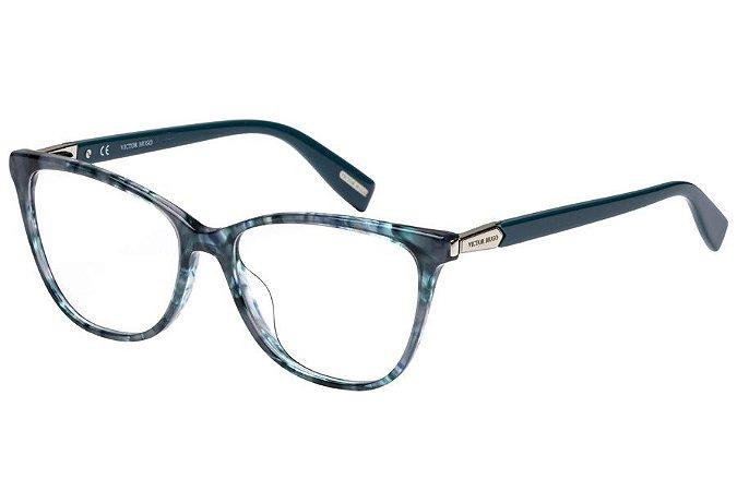 Óculos de Grau Victor Hugo VH1767 011H/53 Azul Mesclado Transparente