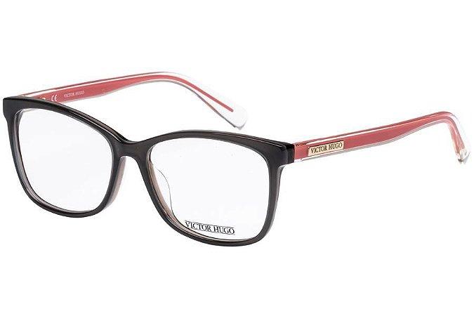 Óculos de Grau Victor Hugo VH1766 06HK/53 Cinza/Salmão
