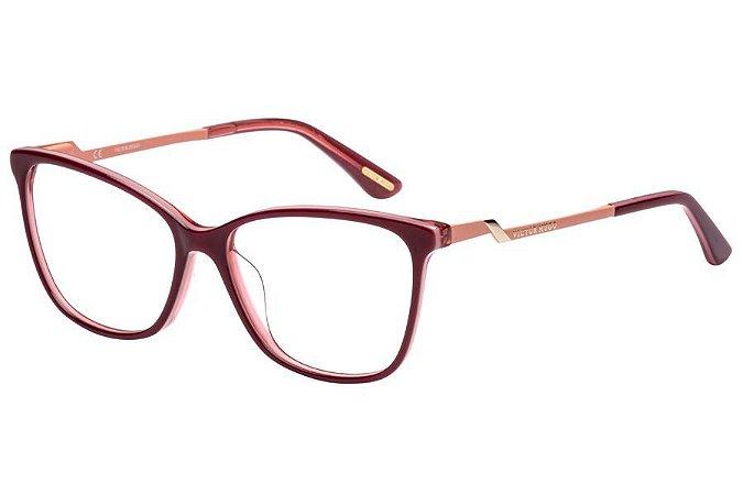 Óculos de Grau Victor Hugo VH1765 07NA/54 Vermelho