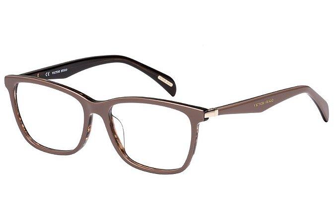 Óculos de Grau Victor Hugo VH1760 09R4/54 Bege/Marrom