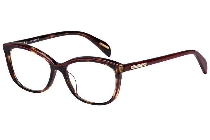 Óculos de Grau Victor Hugo VH1757 09TD/53 Tartaruga/Vermelho