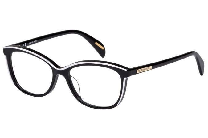Óculos de Grau Victor Hugo VH1757 06HC/53 Preto/Branco