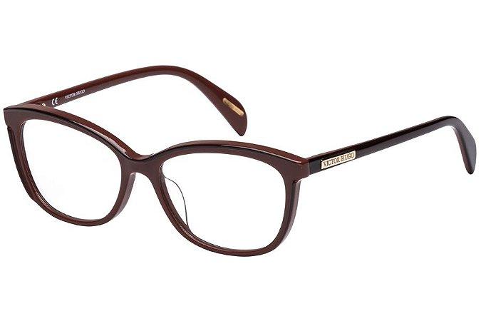 Óculos de Grau Victor Hugo VH1757 01BB/53 Bordô/Marrom