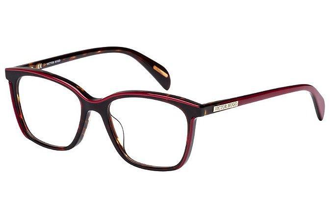 Óculos de Grau Victor Hugo VH1756 0V57/51 Tartaruga/Vermelho