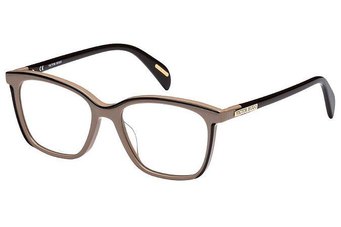 Óculos de Grau Victor Hugo VH1756 09HL/51 Bege/Marrom