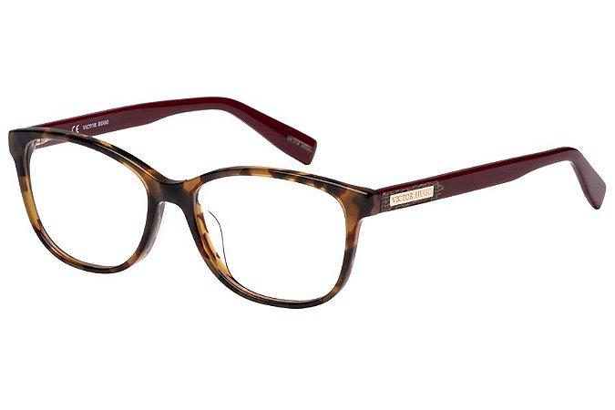 Óculos de Grau Victor Hugo VH1752 09JL/53 Tartaruga/Vinho
