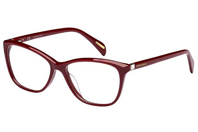 Óculos de Grau Victor Hugo VH1738S 01AW/52 Vermelho