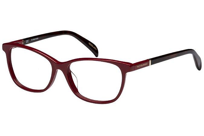Óculos de Grau Victor Hugo VH1737 09EZ/53 Vermelho/Tartaruga