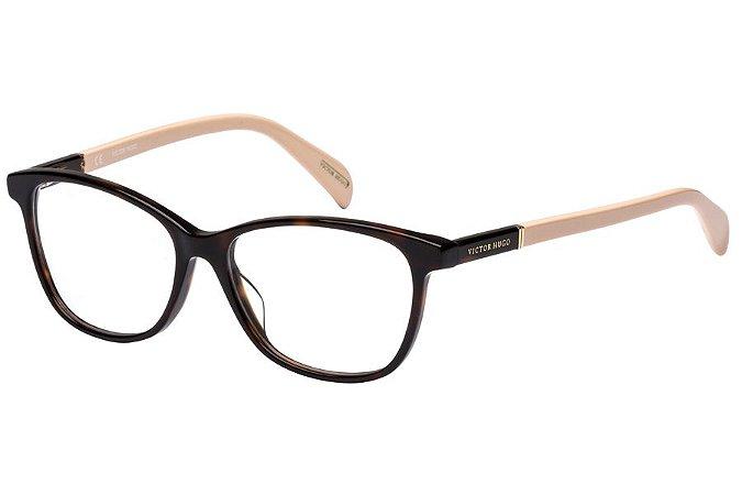 Óculos de Grau Victor Hugo VH1737 01AY/53 Marrom/Rose