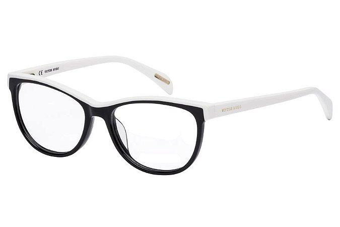 Óculos de Grau Victor Hugo VH1734 0700/52 Preto/Branco