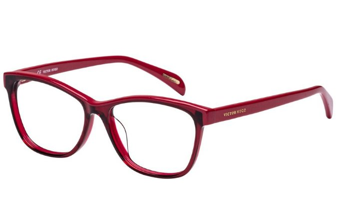 Óculos de Grau Victor Hugo VH1733 0954/52 Bordô Transparente