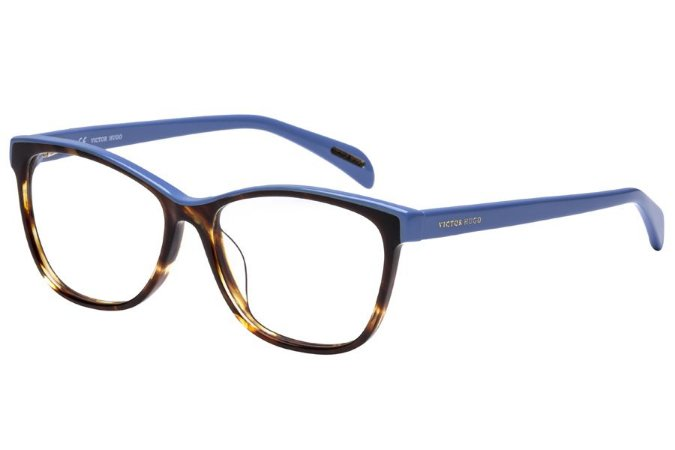 Óculos de Grau Victor Hugo VH1733 0752/52 Marrom Mesclado/Azul