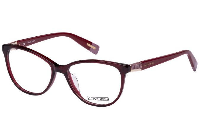 Óculos de Grau Victor Hugo VH1728 0954/53 Bordô Transparente