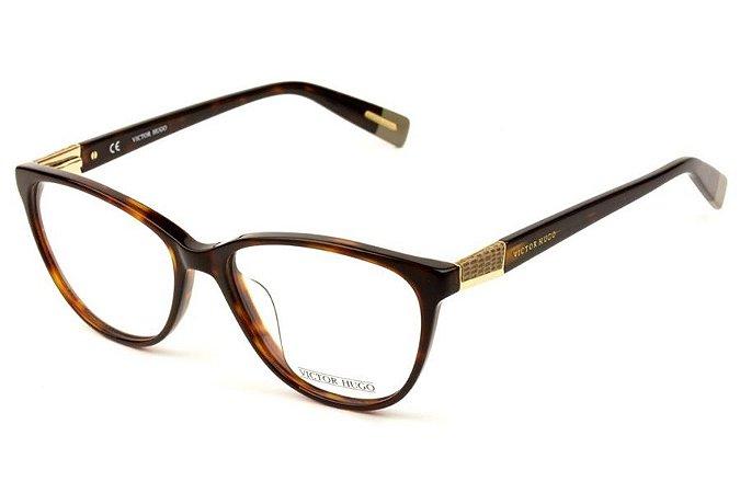 Óculos de Grau Victor Hugo VH1728 01AY/53 Tartaruga