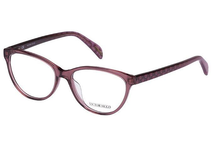 Óculos de Grau Victor Hugo VH1727 096D/53 Vinho Transparente