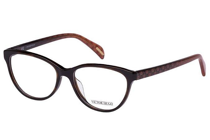 Óculos de Grau Victor Hugo VH1727 01AY/53 Marrom
