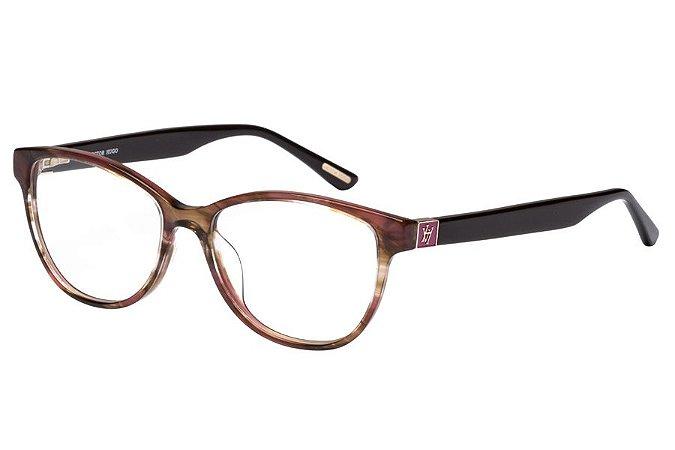 Óculos de Grau Victor Hugo VH1725 0MBP/53 Marrom Mesclado Transparente