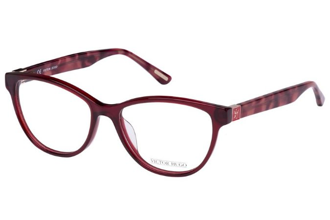 Óculos de Grau Victor Hugo VH1725 0L00/53 Bordô Transparente