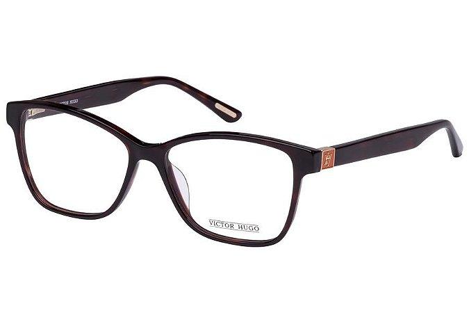 Óculos de Grau Victor Hugo VH1724 0713/54 Marrom