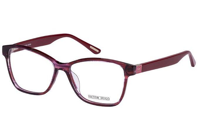 Óculos de Grau Victor Hugo VH1724 0P60/54 Bordô Transparente
