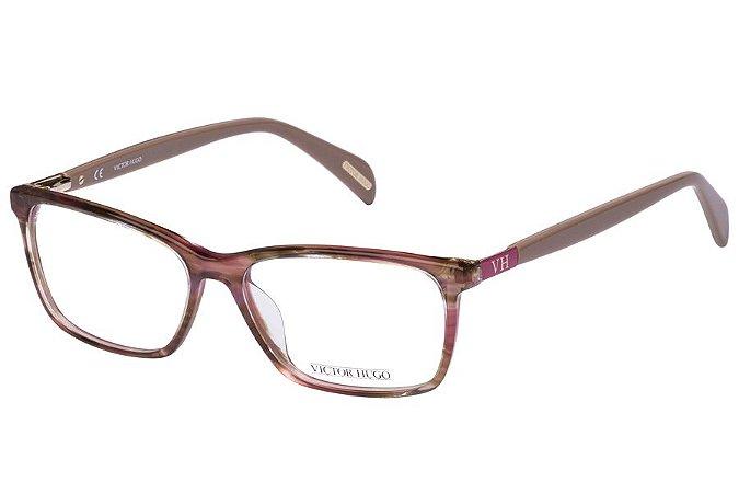Óculos de Grau Victor Hugo VH1723 0MBP/53 Marrom Mesclado