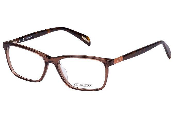 Óculos de Grau Victor Hugo VH1723 0D57/53 Marrom Transparente/Tartaruga