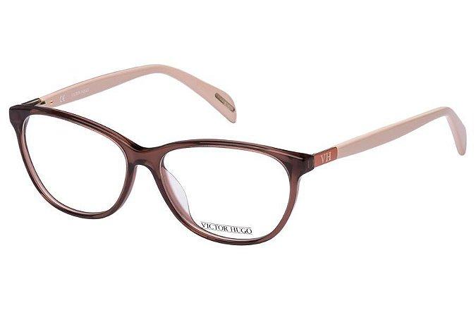 Óculos de Grau Victor Hugo VH1722 06BC/54 Marrom Transparente