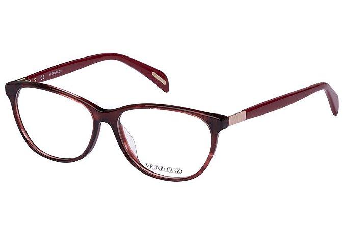 Óculos de Grau Victor Hugo VH1722 01GJ/54 Vermelho Transparente