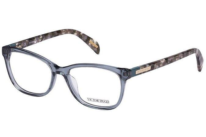 Óculos de Grau Victor Hugo VH1721 0844/52 Cinza Transparente/Mesclado