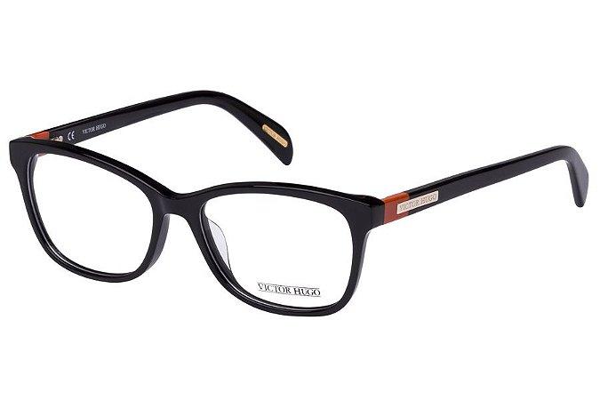 Óculos de Grau Victor Hugo VH1721 0700/52 Preto Brilho