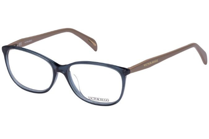 Óculos de Grau Victor Hugo VH1720 0AGQ/54 Azul Transparente/Bege