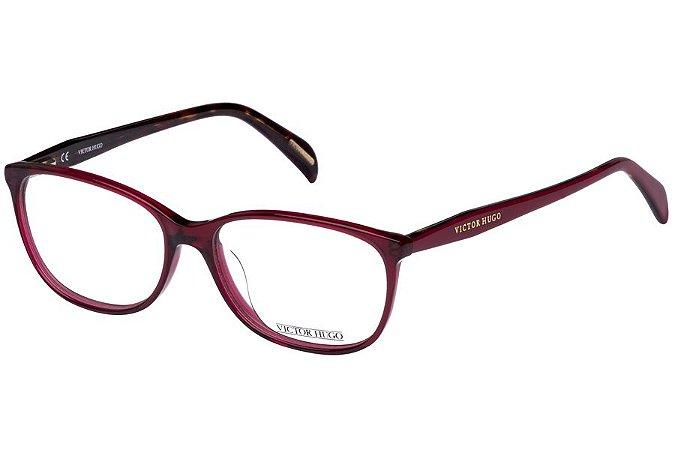 Óculos de Grau Victor Hugo VH1720 0954/54 Vermelho Transparente