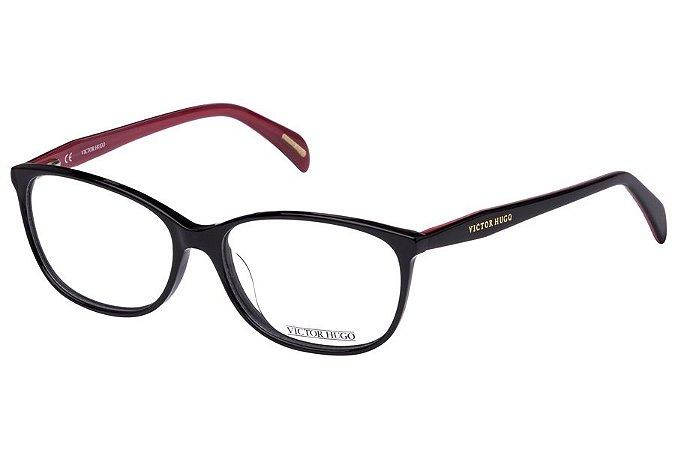 Óculos de Grau Victor Hugo VH1720 700Y/54 Preto/Vermelho